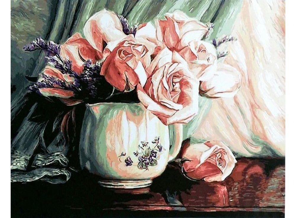 Картины по номерам «Розовые розы»