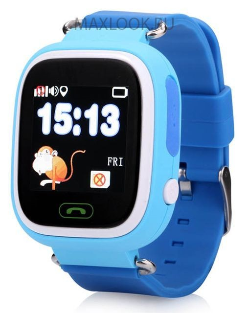 Голубые детские часы Smart Baby Watch Q80