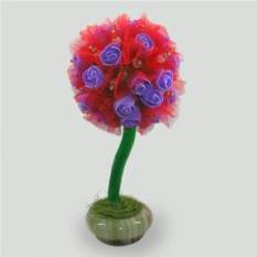 Дерево-топиарий из розового кварца Радость