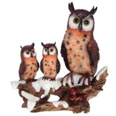 Декоративная фигура Семья филинов