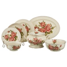 Столовый сервиз на 6 персон из 22 предметов Корейская роза
