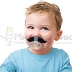 Соска-пустышка Усы Chill Baby