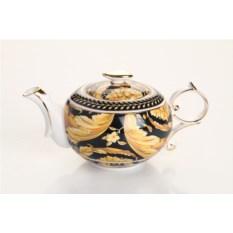 Золотисто-черный заварочный чайник, объем 400 мл