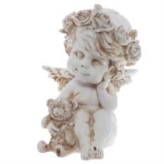 Декоративная фигура Античный ангелочек с медведем
