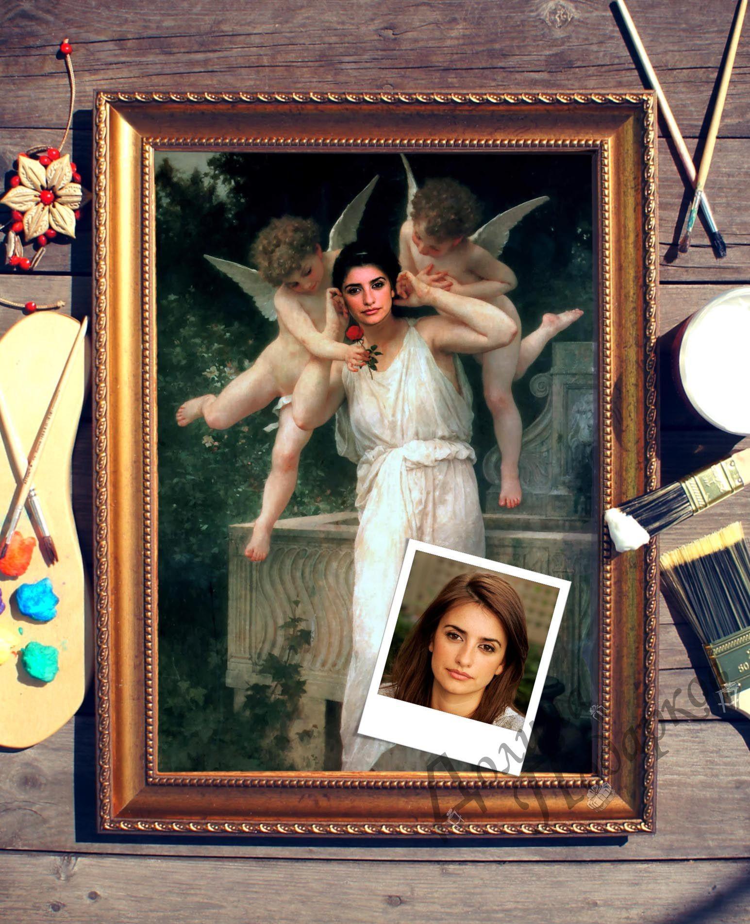 Портрет по фото Ангелочки