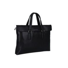 Черная мужская сумка Leo Ventoni с откидным верхом