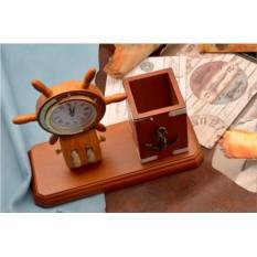 Настольный набор с часами Морское приключение