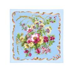 Павлопосадский шелковый платок Пестрая лента