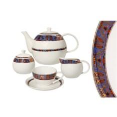 Чайный фарфоровый сервиз Тамерлан на 6 персон 15 предметов