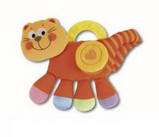 Погремушка мягкая «Оранжевый котенок»