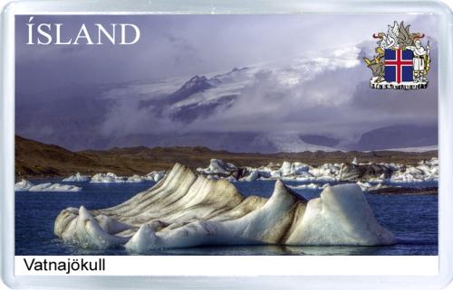 Магнит на холодильник: Исландия. Ледник Ватнаёкуль