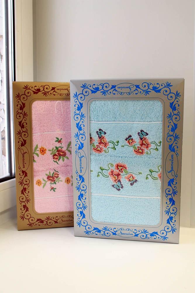 Подарочный набор полотенец Анютины глазки