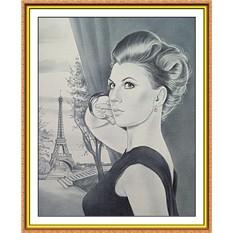 Портрет по фото на заказА4 сюжетный (черно-белый)