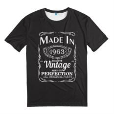 Мужская 3D-футболка Сделано в 1963
