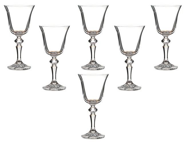 Набор 6 бокалов для вина 170 мл Crystalite bohemia Лаура