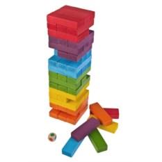 Настольная игра для взрослых Цветная Дженга