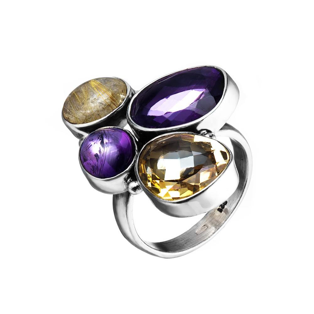 Серебряное кольцо необычной формы
