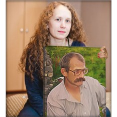 Портрет по фото на заказ близкому человеку (30x40 см)