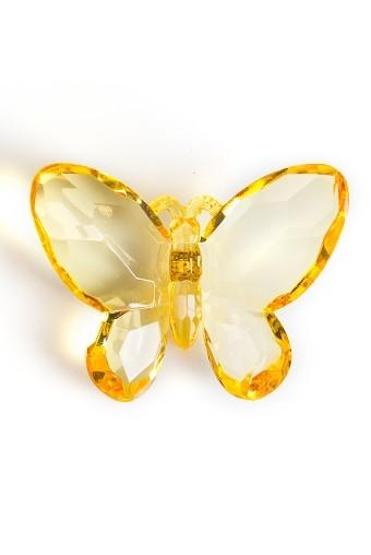 Держатель-магнит Милая бабочка желтая