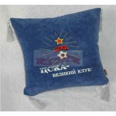 Синяя с кистями подушка ЦСКА-Великий клуб