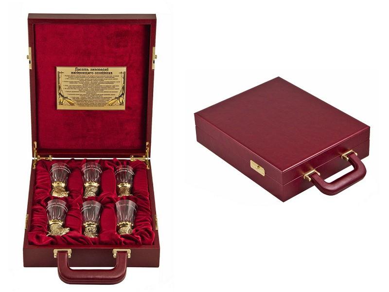 Подарочный набор Охотничий со стеклянными чарками