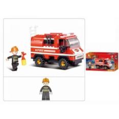 Пластмассовая игрушка-конструктор Пожарная машина