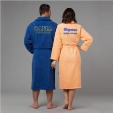 Комплект халатов с вышивкой Супер мама и супер папа