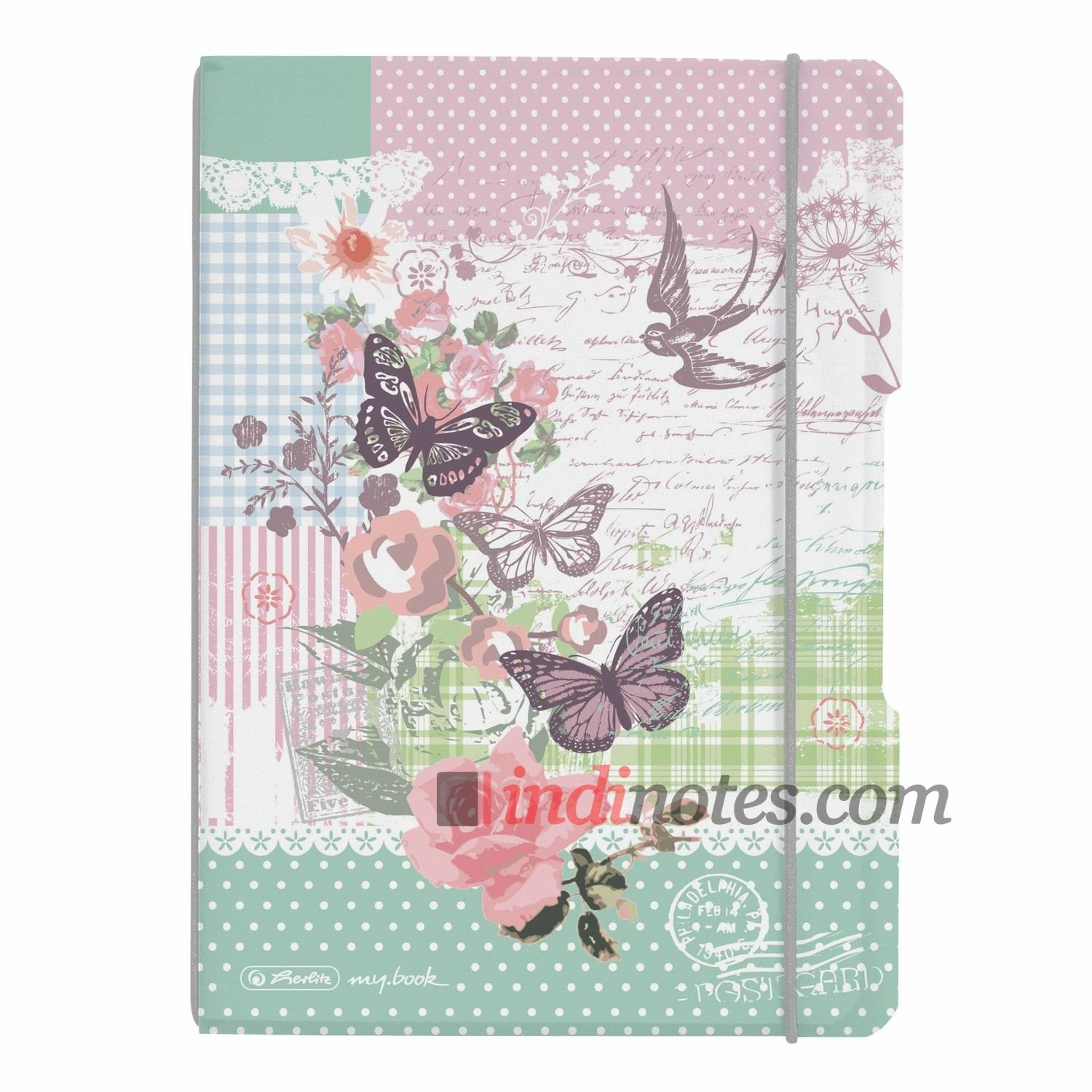 Тетрадь A5 Plastic Butterfly Herlitz my.book Flex