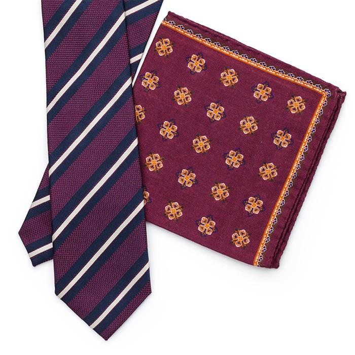 Платок Roda из шерсти, с цветочным узором, бордовый