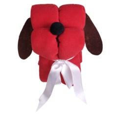 Игрушка-плед «Пес-трансформер» (цвет: красный)