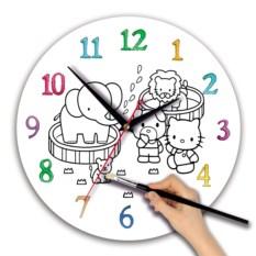 Детские часы-раскраска Китти