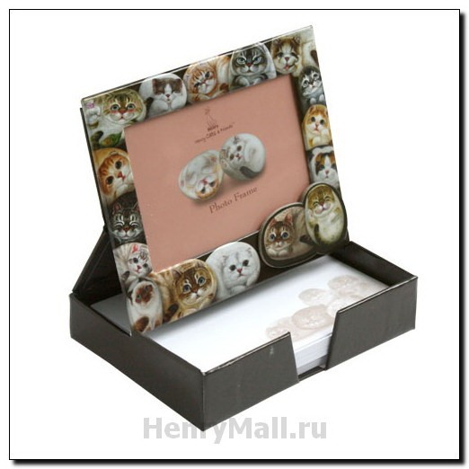 Коробка-фоторамка для записок «Кошки Генри»