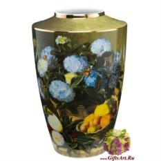 Фарфоровая ваза Голубая Гортензия. Йохан Дженсен Goebel
