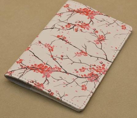 «Промо», коллекция G.Design. Кожаная обложка для паспорта (Белый, Сакура)