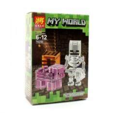 Конструктор Lele Minecraft Скелет и свинья