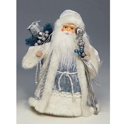 Фигурка Дед Мороз бело-серебряный