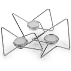Хромированный набор из 3 подсвечников Tri-Angular Loop