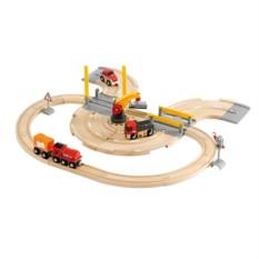 Деревянная железная дорога переезд и кран BRIO 33208