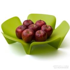 Ваза для фруктов Flower зеленого цвета