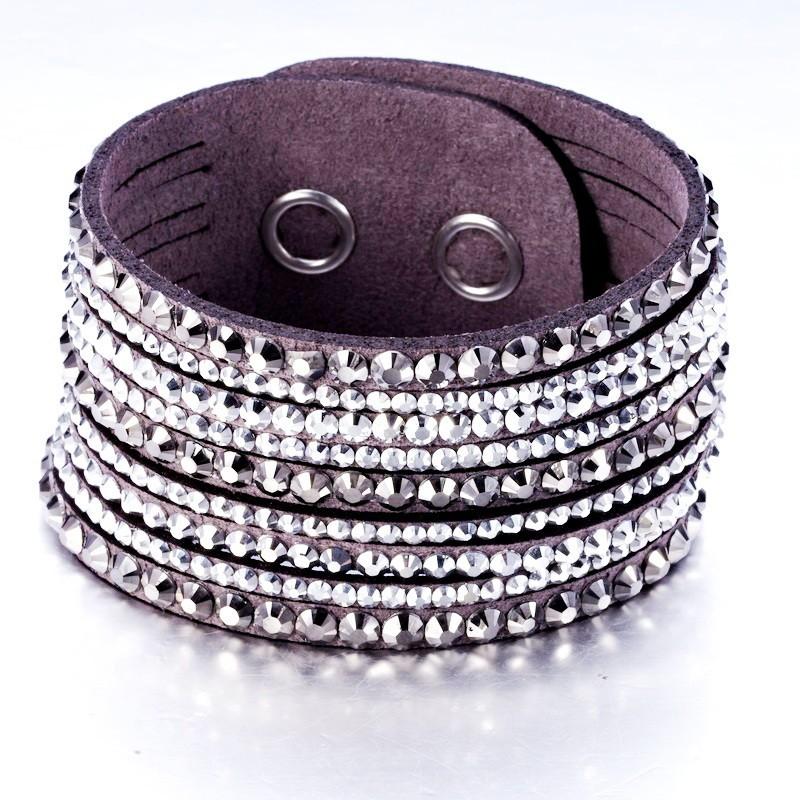 Замшевый серый браслет