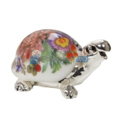 Статуэтка Черепашка с цветами на панцире