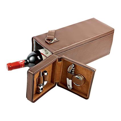 Коробка для бутылки с набором винных аксессуаров