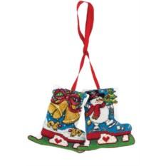 Набор для вышивания Новогоднее украшение. Коньки