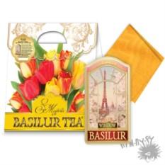 Чайный набор Красочный Париж из чая и салфетки
