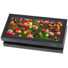 Купюрница (шкатулка для денег) Поле тюльпанов