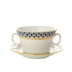 Бульонная чашка с блюдцем Кобальтовая сетка
