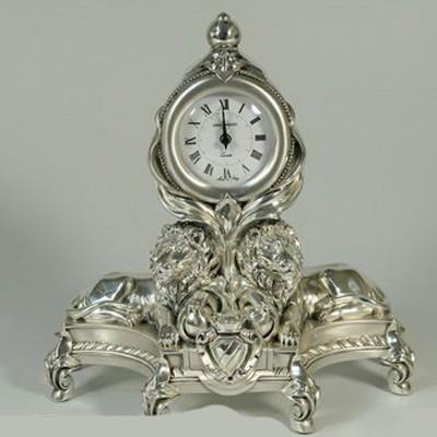 Часы настольные серебрянные