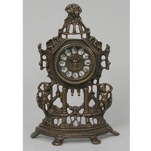 Часы бронзовые интерьерные Амуры
