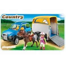 Конструктор Конный клуб Джип с трейлером для лошадей