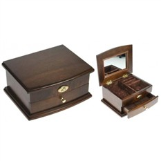 Шкатулка ювелирная Moretto, коричневая